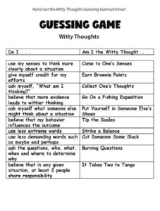 Guessing Game - Witty thoughts