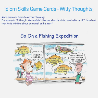 Idion Skills Game Cards - Witty Thoughts